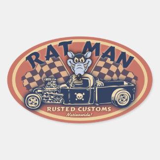 Rat Man II -ov Oval Sticker