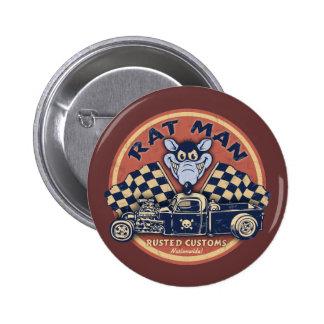 Rat Man Rusted Customs Pins