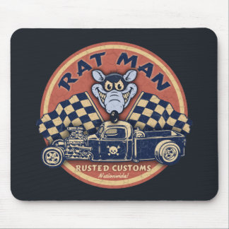 Rat Man Rusted Customs Mouse Pad