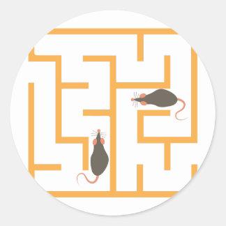 Rat Maze Classic Round Sticker