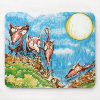 """Rat Moon"" Mouse Pad"