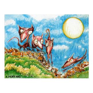 Rat Moon Postcard
