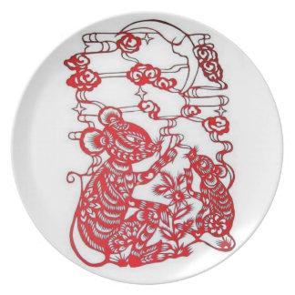 Rat/Mouse-Chinese Zodiac Plate