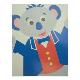rat musician card