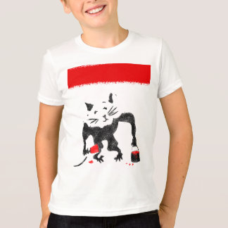 Rat Painting The Town Red T-Shirt