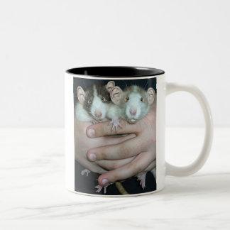 Rat People Two-Tone Coffee Mug