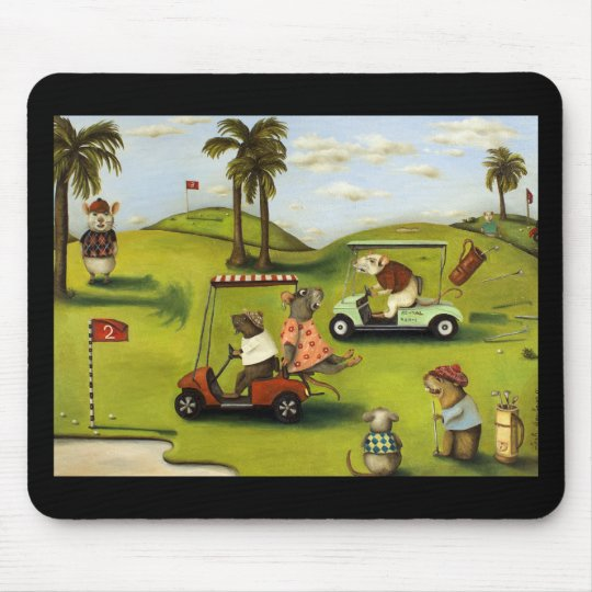 Rat Race 2 At The Golf Course Mouse Pad