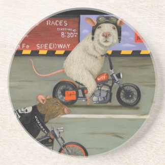 Rat Race 3 Motorcycle Race Drink Coasters