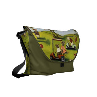 Rat Race at the golf course Courier Bag
