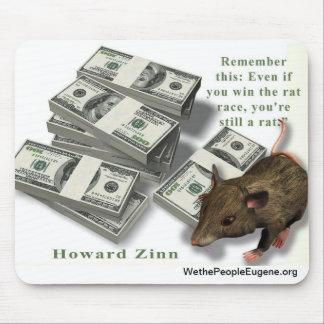 Rat Race, Howard Zinn Mouse Pads