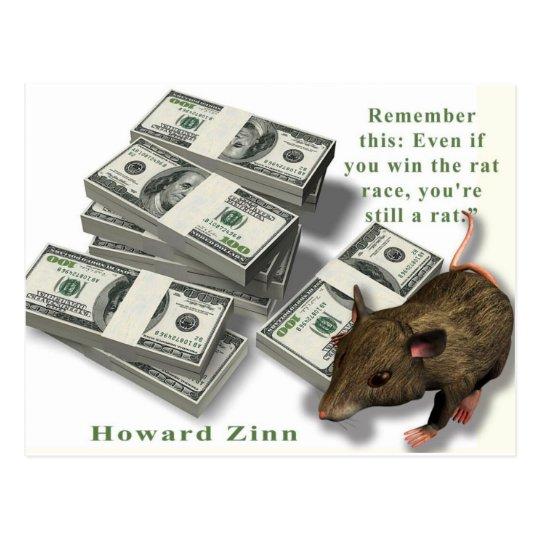 Rat Race, Howard Zinn Postcard