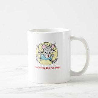 rat race classic white coffee mug