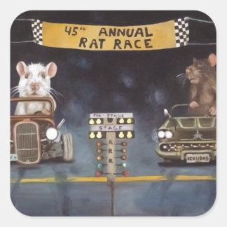 Rat Race Square Sticker