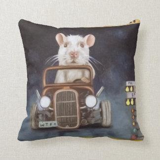 Rat Race Throw Pillows