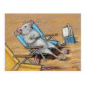 Rat relaxing on Beach Postcard