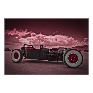 Rat Rod at Bonneville Poster