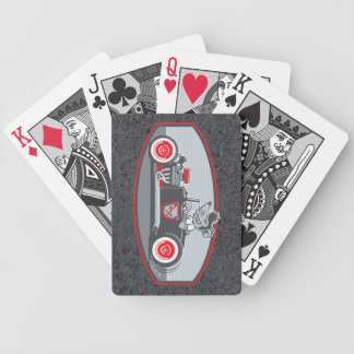 Rat Rod Bicycle Playing Cards