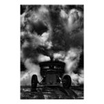 Rat Rod Burn Out Poster