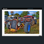 "Rat Rod Decal For Laptop<br><div class=""desc"">A tricked out dual engine rat rod!</div>"
