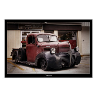"""RAT ROD"" DODGE POSTER"