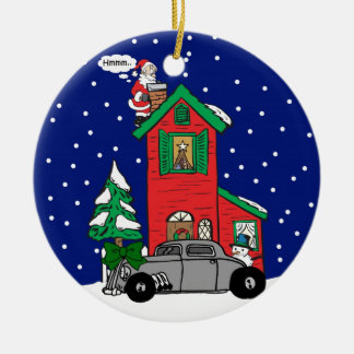 Rat rod Gifts By Gear4gearheads Double-Sided Ceramic Round Christmas Ornament