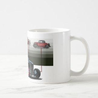 rat rod illustration coffee mug
