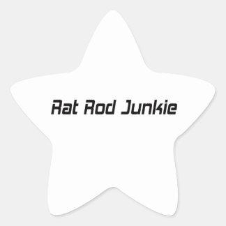 Rat Rod Junkie Star Sticker