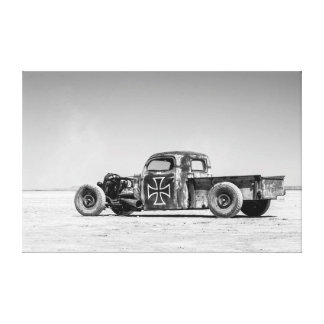 Rat Rod on desert salt pan Canvas Print