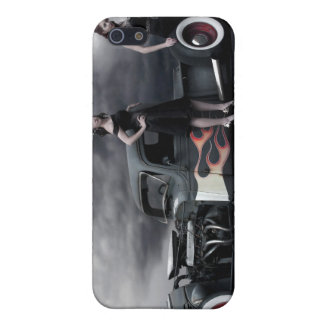 Rat Rod Pick Up and Pin Up Girls iPhone 5 Case