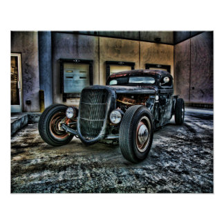 rat rod pickup poster