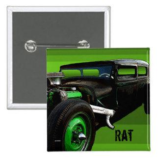 Rat Rod Pinback Button