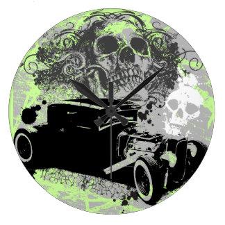 Rat Rod Skull Clock