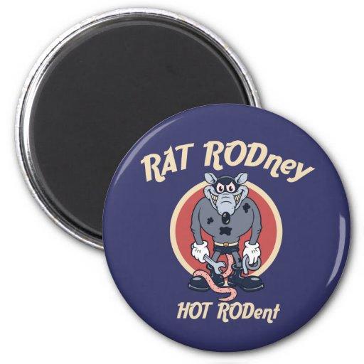 rat-rodney1-DKT 2 Inch Round Magnet