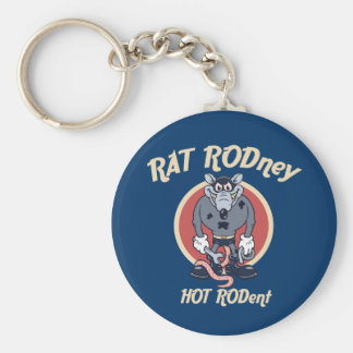 rat-rodney1-DKT Basic Round Button Keychain