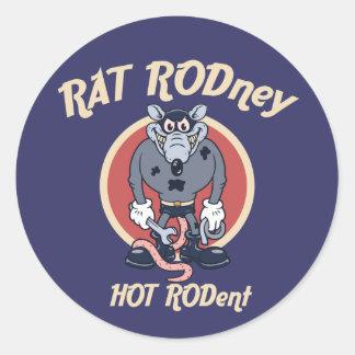 rat-rodney1-DKT Classic Round Sticker
