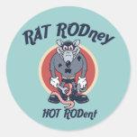 Rat Rodney Classic Round Sticker
