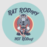 Rat Rodney Round Sticker