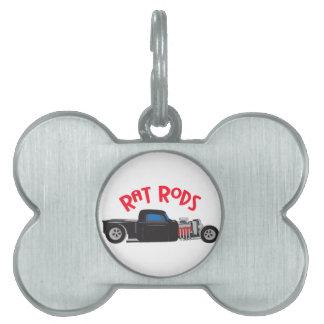 Rat Rods Pet Name Tag