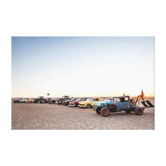 Rat Rods, Street Rods and Muscle cars at dusk Canvas Print