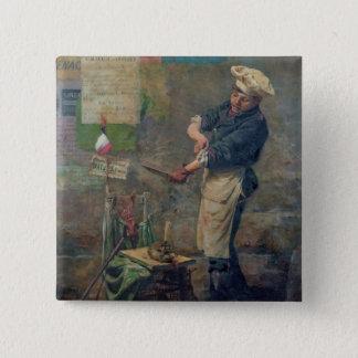 Rat Seller during the Siege of Paris, 1870 Button