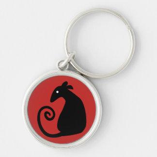 Rat Silhouette key chain