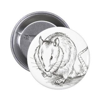 rat sketch 2 inch round button