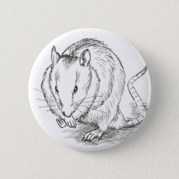 Beach Themed rat sketch button