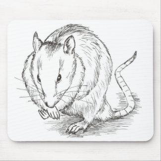 rat sketch mouse pad