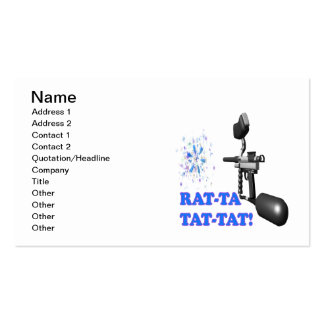 Rat Ta Tat Tat Double-Sided Standard Business Cards (Pack Of 100)