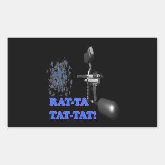 Rat Ta Tat Tat Rectangular Sticker