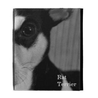 Rat Terrier, Black and White, iPad Folio Cover