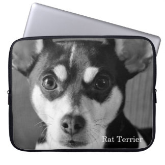 Rat Terrier, Black and White, Laptop Sleeve