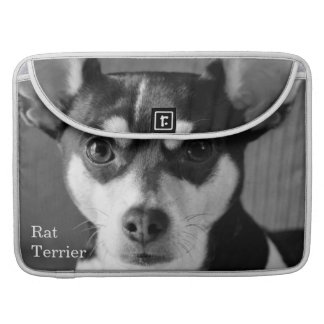 Rat Terrier, Black and White, MacBook Pro Sleeve