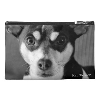 Rat Terrier, Black and White, Travel Accessories Bags